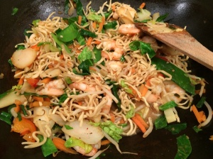 Prawn and noodles