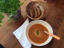 Tomato and courgette soup