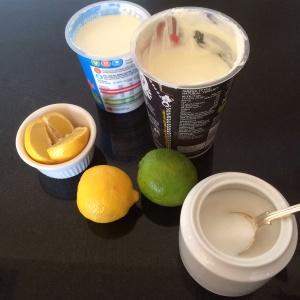 Lime and lemon fool
