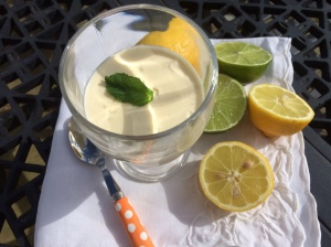 Lemon and lime fool