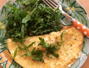 Wild garlic omelette