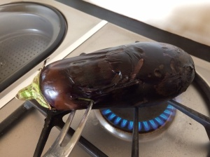 Chargrilled aubergine