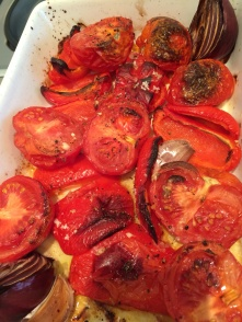 Roasted tomatoes and red peppers