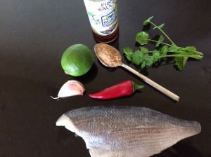 Seabream Thai style ingredients