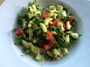 Open salad sandwich