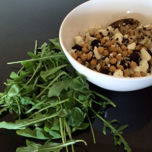 Harrissa salad with lentils