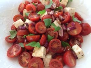 Basil and tomato salad
