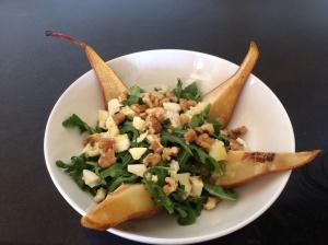 Caramalised pear salad