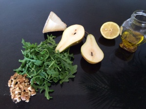Salad ingredients for pear salad