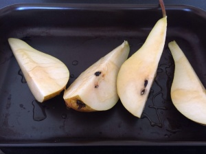 Caramalised pears