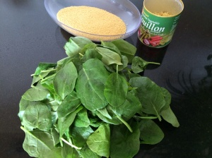 Couscous and spinach