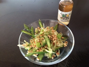 Asparagus, fennel salad, Wormersley vinegar