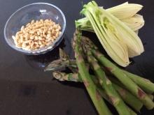 Pinenut,asparagus,fennel