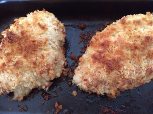 Parmesan coated breadcrumbs