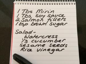 Mirin salmon ingredients