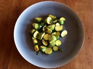 Chilli courgettes