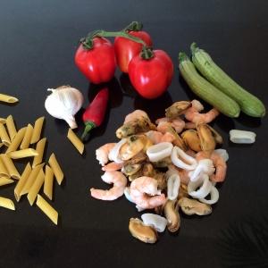 Saffron seafood ingredients pic