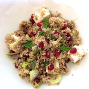 Pomegranate and quinoa salad