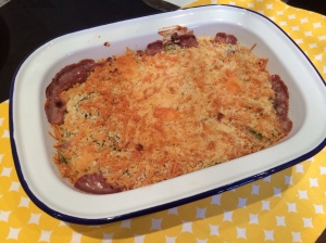 Courgette and onion gratin
