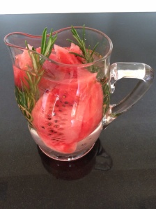 Watermelon and rosemary jui