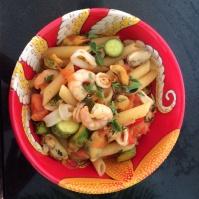 Saffron seafood pasta