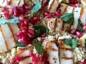 Halloumi and preserved lemon couscous