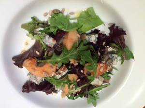 Quince and blue cheese salad