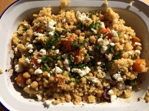 Roasted sweet potato and couscous