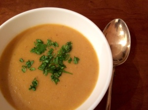 Butternut squash and peanut butter soup