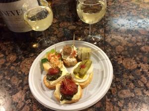 Cichetti at Cantine del vino