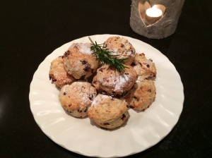 Cranberry, cinnamon and orange scones