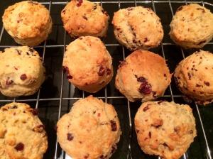 Cranberry, cinnamon and orange scones