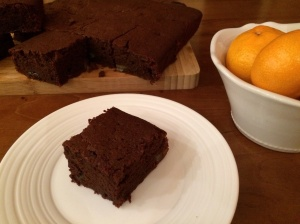 Chocolate and orange brownies