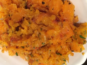 Roasted and mashed butternut squash