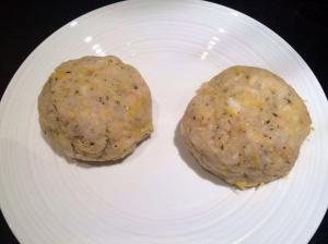 Uncooked fishcakes