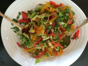 Kos and pepper salad