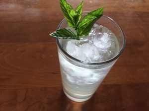 Mint and elderflower cooler.